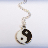 Yin Yang Necklace, Yin Yang Jewelry, Ying Yang Necklace, Zen Jewelry, Hippie Necklace, Yin Yang Symbol, Women's Necklace