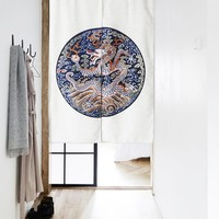 "Japanese Noren Doorway Curtain Tapestry 33.5"" Width x 47.2"" Long, Tenroku"