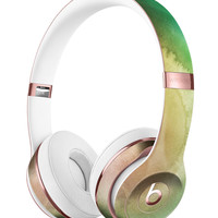 Green 8643 Absorbed Watercolor Texture Full-Body Skin Kit for the Beats by Dre Solo 3 Wireless Headphones