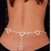 Back body chain/hearts