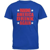 Election 2016 Funny Making America Drink Again Mens T Shirt