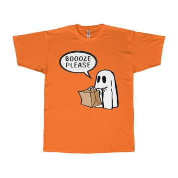 Boooz Please Tee - Funny Halloween Ghost T-Shirt