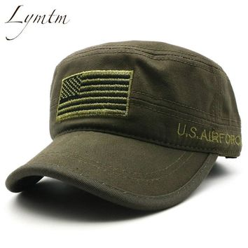 Trendy Winter Jacket [Lymtm] Men Cotton Baseball Cap Summer American Flag Embroidery Snapback Army Camouflage Tactical Sports Outdoor Hat AT_92_12
