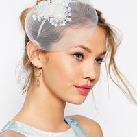 ASOS Sequin Flower Mesh Fascinator