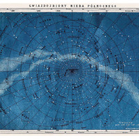 Astronomy Map Northern Constellations, Paintings