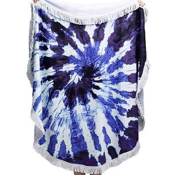 Wave Tie-Dye Towel for the Beach! 4 Different Beach Towel Designs
