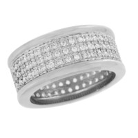 Mens Engagment Ring Stainless Steel Lab Diamond