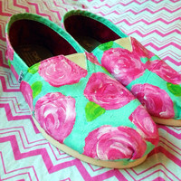 Hand Painted Lilly Pulitzer TOMS Shoes