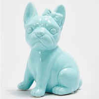 Green Frenchie Bow Coin Bank