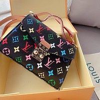 LV color letters presbyopia women retro wild shoulder bag crossbody bag