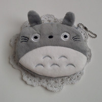 totoro plush coin purse