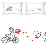 """BOLDLOFT® """"All My Love for You"""" Couple Pillowcases-His and Hers Couple Gifts,Valentines Day Romantic Gifts,Valentines Day Gift for Him,Valentines Gift for Boyfriend,His and Hers Pillowcases"""