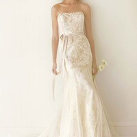 Corded Lace Trumpet Gown with Ruffle Detail - David's Bridal