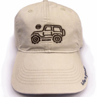 """All Things Jeep - Life is Good Chill Cap - Native Jeep on """"Bone"""" Hat"""
