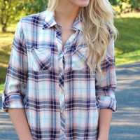 Fun Little Plaid Flannel - Pink
