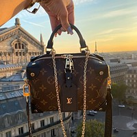 Louis Vuitton LV Petite Malle Souple Handbag Shoulder Bag