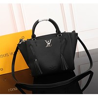 LV Louis Vuitton WOMEN'S LEATHER RAISIN HANDBAG INCLINED SHOULDER BAG