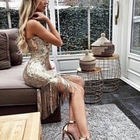 Dana Party Sequin Midi Dress