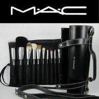 16pcs Professional Cosmetic MAC Makeup Brushes Set with Pu Leather Cover