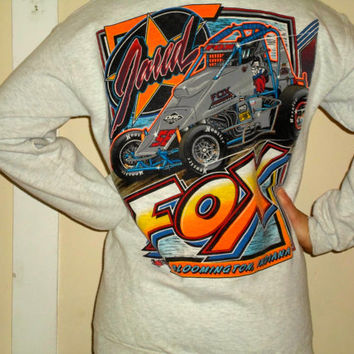 90s Racing Hoosier Crewneck Pullover Sweatshirt, Jared Fox