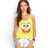 Yellow Spongebob Racer Back Camisole Tank Top