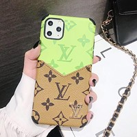 Louis Vuitton LV Apple 11 mobile phone case x old flower card xr all-inclusive 7p/8p anti-drop iPhone7 personality 11Pro