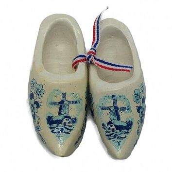 Netherlands Wooden Shoes Clogs White