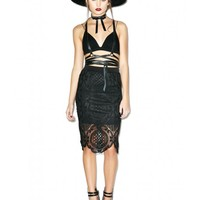 Think About Me Lace Skirt | Dolls Kill