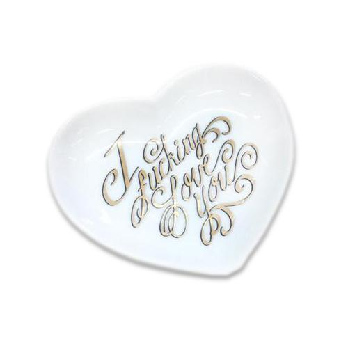Image of I F**king Love You Heart Dish