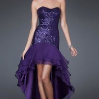 Amazing High Low Regency Tailor Made Evening Prom Dress (LFNAF0067) cheap online-MarieProm UK