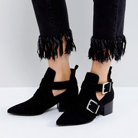 ASOS RAYON Cut Out Ankle Boots at asos.com