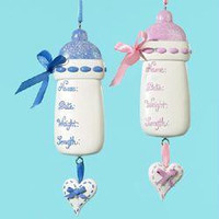 12 Christmas Ornaments - Baby Bottle