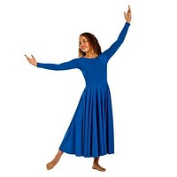 Adult Polyester Praise Dress 13524 Plus Sizes 2X-6X (Purple, Royal Blue, Black)