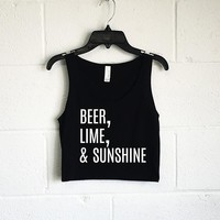 Beer, Lime, & Sunshine Crop Tank