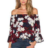 Eight Sixty Trinity Top in Burgundy & Multi
