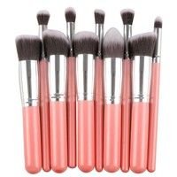 10 PC Premium Makeup Contouring Brush Set
