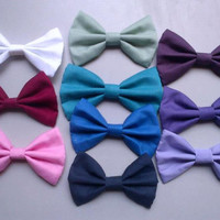 Solid Colored Hair Bows (No Lace, Side Lace, or Overlap Lace)