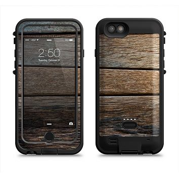 The Uneven Dark Wooden Planks  iPhone 6/6s Plus LifeProof Fre POWER Case Skin Kit