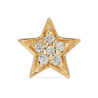 Andrea Fohrman - Mini Star 14-karat gold diamond earring