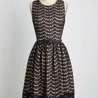 Vintage Inspired Mid-length Sleeveless Fit & Flare First Lace Prize Dress by ModCloth