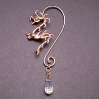 Dragon Ear Wire in Bronze by BronzeSmith on Etsy