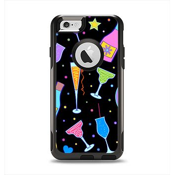 The Neon Party Drinks Apple iPhone 6 Otterbox Commuter Case Skin Set