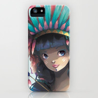 Tiger Lily iPhone & iPod Case by Ludovic Jacqz