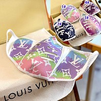 Onewel LV mask Louis Vuitton colorful gradient mask breathable mask blue pink purple