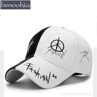 Trendy Winter Jacket BBS124 Men GD Adjustable Painting Peaked Doodle Baseball Cap New Cotton Casual Printing Hip Hop Snapback Hats Shade Hats AT_92_12