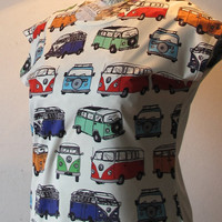 Classic Volkswagen Van T Shirt Women T Shirt Retro VW Camper white Shirt Tunic Top Vest Short Sleeve Women T-Shirt Size S M free size