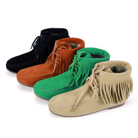 Casual Women Tassel Lace Up Shoes