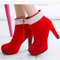 The new booties with thick heels and low heels shoes