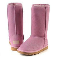 UGG classic wool high boots F Shoes Pink