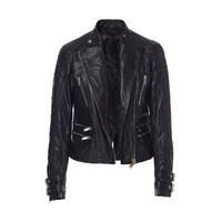 BIKER LEATHER JACKET WITH BUCKLES - Stock clearance - Woman | ZARA United States